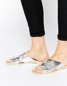 ASOS silver sliders