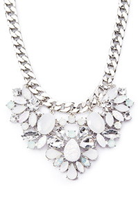 Forever 21 Gemstone Statement Necklace