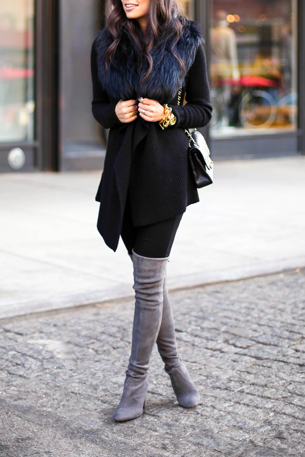 stuart weitzman-over the knees boots-grey-suede-highland boots-autumn-winter-style-fashion-blog-gingham and sparkle-ireland-us-dubai