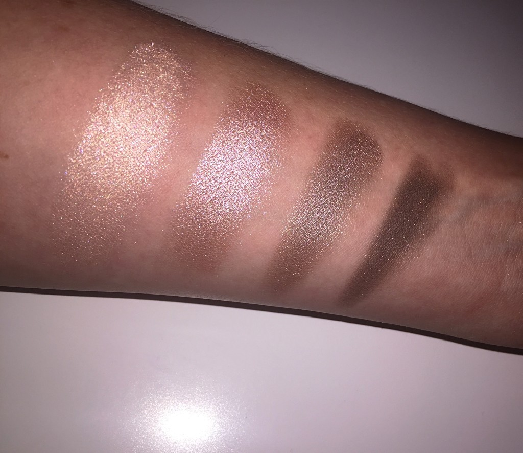 Tom Ford-eyeshadow-quad-swatch-bronze-colour-arm-smokey eye-nude dip-blog-beauty-gingham and sparkle-dubai-ireland