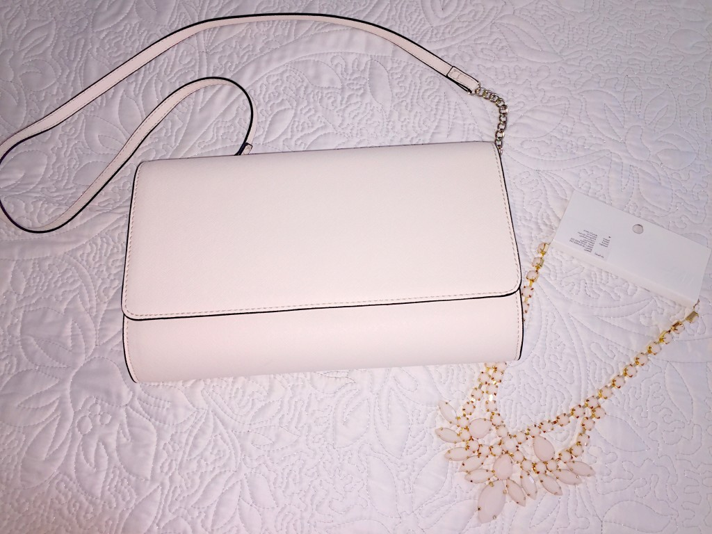 H&M Cream Clutch Bag