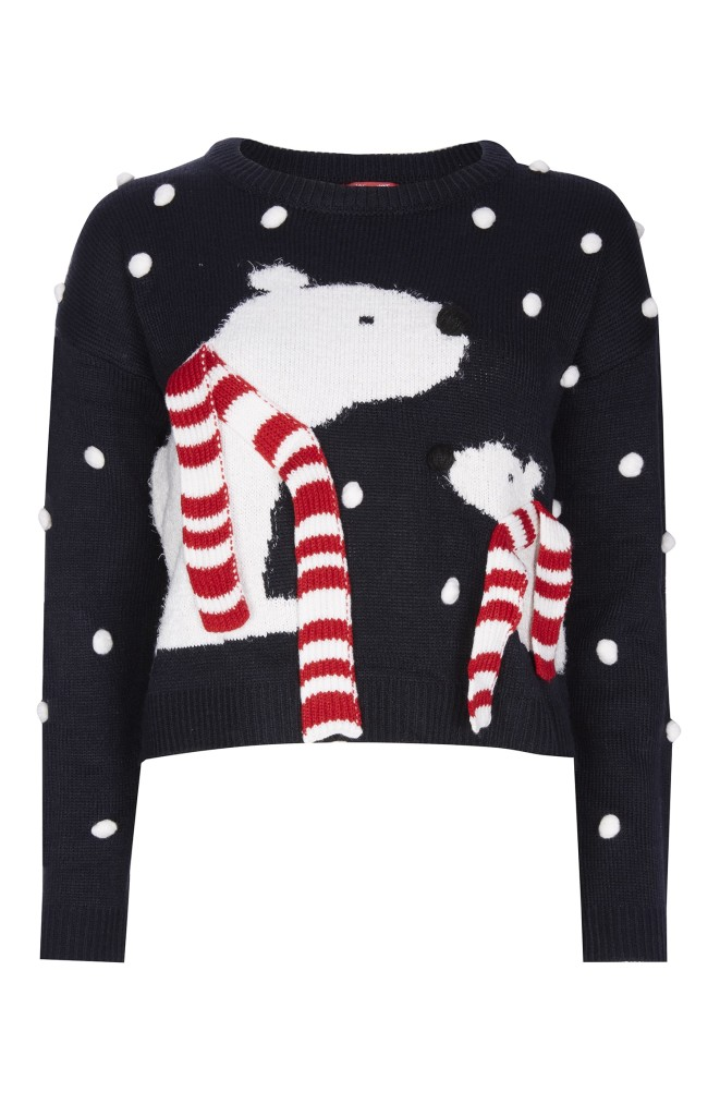 penneys-primark-christmas-jumper-polar bear-cute-snow-navy-white-red stripe-blog post-shopping-online-blogger-gingham and sparkle-dubai-ireland