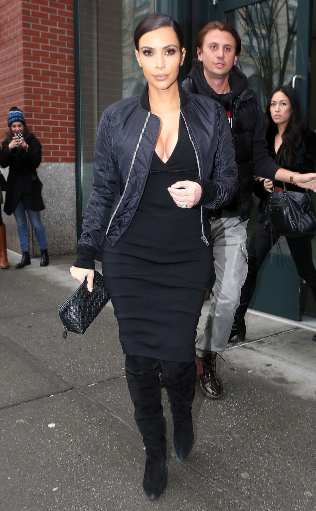 kim kardashian-bomber jacket-black-style-fashion-on trend-stylish-blog post-return of the bomber jacket-dubai-ireland-gingham and sparkle-the kardashians-kimye