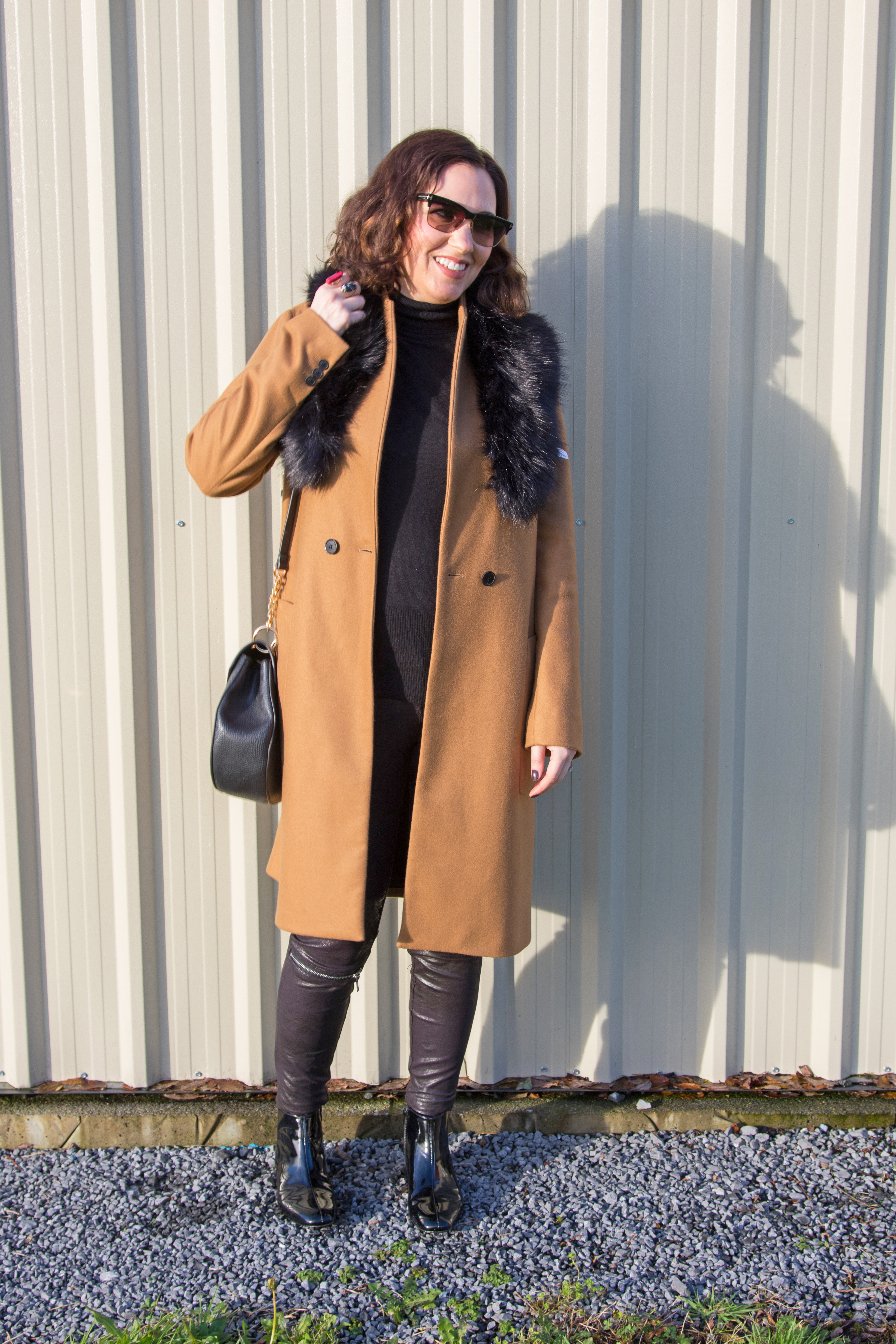 zara-gingham and sparkle-classic-coat-camel-timeless-fashion-