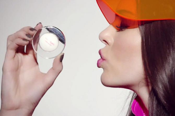 estee lauder-courreges-kendall jenner-makeup-beauty-lip visor-see through-coral mini-lips-sheer-moisturising-blog post-blogger-ireland-dubai-irish-gingham and sparkle-french-designer-collaboration-collection-limited edition
