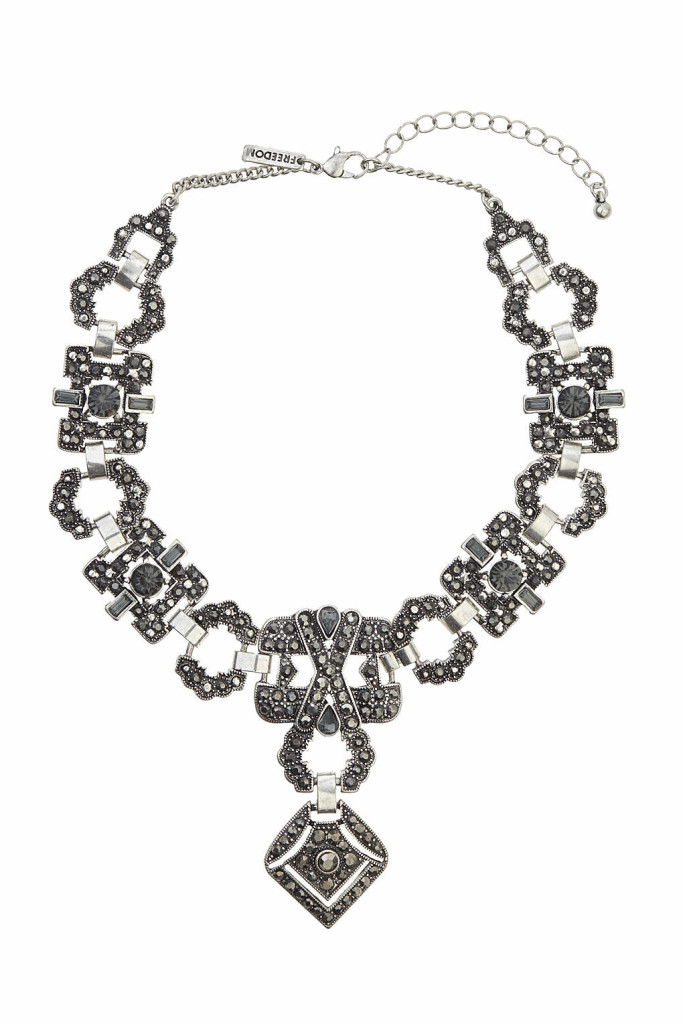 topshop-choker-accessories-accessory-accessorize-bow-fashion-style-ginham-and-sparkle-irish-blogger-blog-fashion-style-dubai-ireland-trend-forecast-necklace-studs-black-metal-chain-embellished-detail-stones