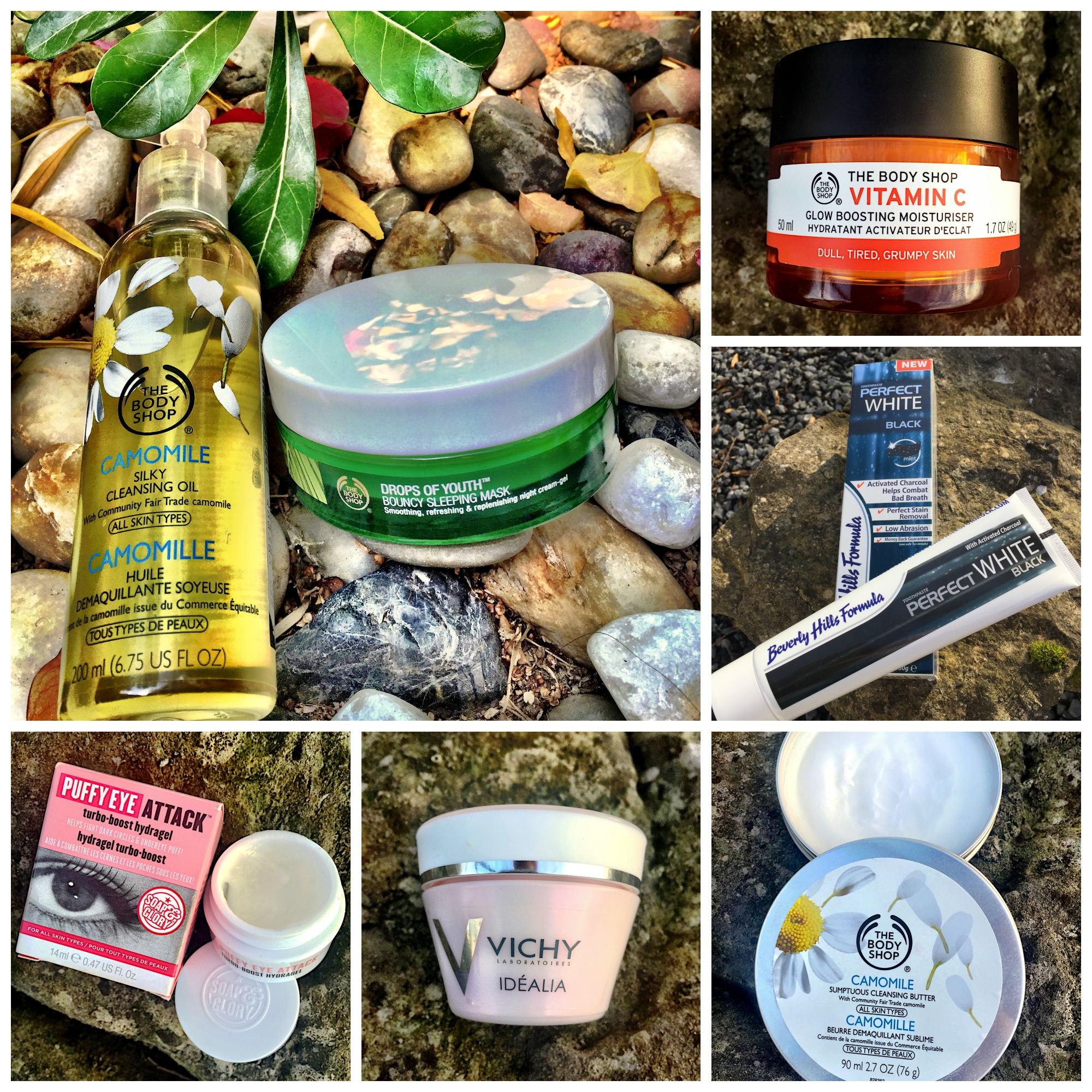 pic-monkey-collage-beauty-junkie-products-review-gingham-and-sparkle-skin-skincare-face-facial-body-shop-vichy-beverly-hills-formula-whitening-teeth-black-vitamin-c-cleanser-moisturiser-eye-cream-gel-blogger-dubai-ireland-blog-post