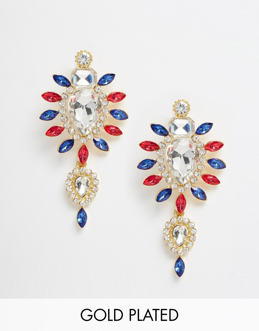 Fashion accessory blogs - Accessories Accessorise Gingham And Sparkle Statement Earrings Chandalier Johnny Loves