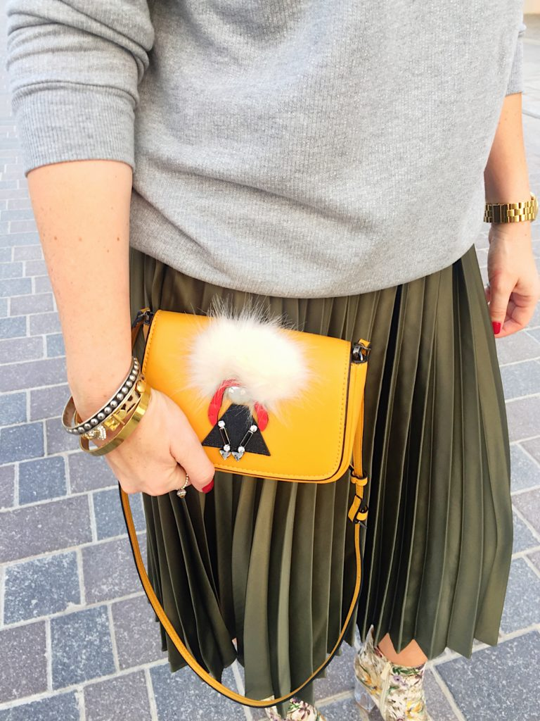 jumper-pull-and-bear-pleats-skirt-topshop-floral-boots-public-desire-zara-cute-microbag-bag-accessories-ootd-outfit-look-fashion-style-gingham-and-sparkle-blogger-blog-post-grey-green-winter-dubai-statement-slogan-reason-trend-autumn-streetstyle