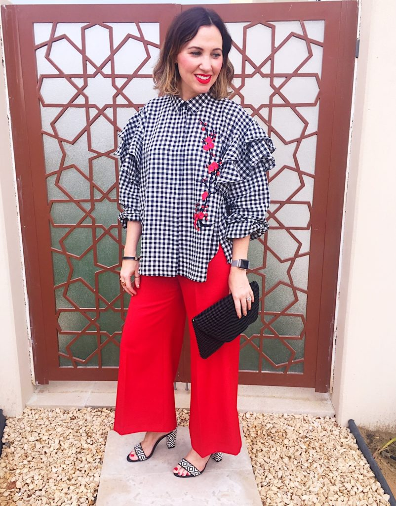 gingham-trend-print-summer-spring-2017-fashion-style-cute-anna-wintour-wimbledon-altuzarra-vogue-editor-mango-zara-black-white-red-ginghamandsparkle-blogger-ireland-dubai-stylist-photoshoot-ootd-highstreet-shopping
